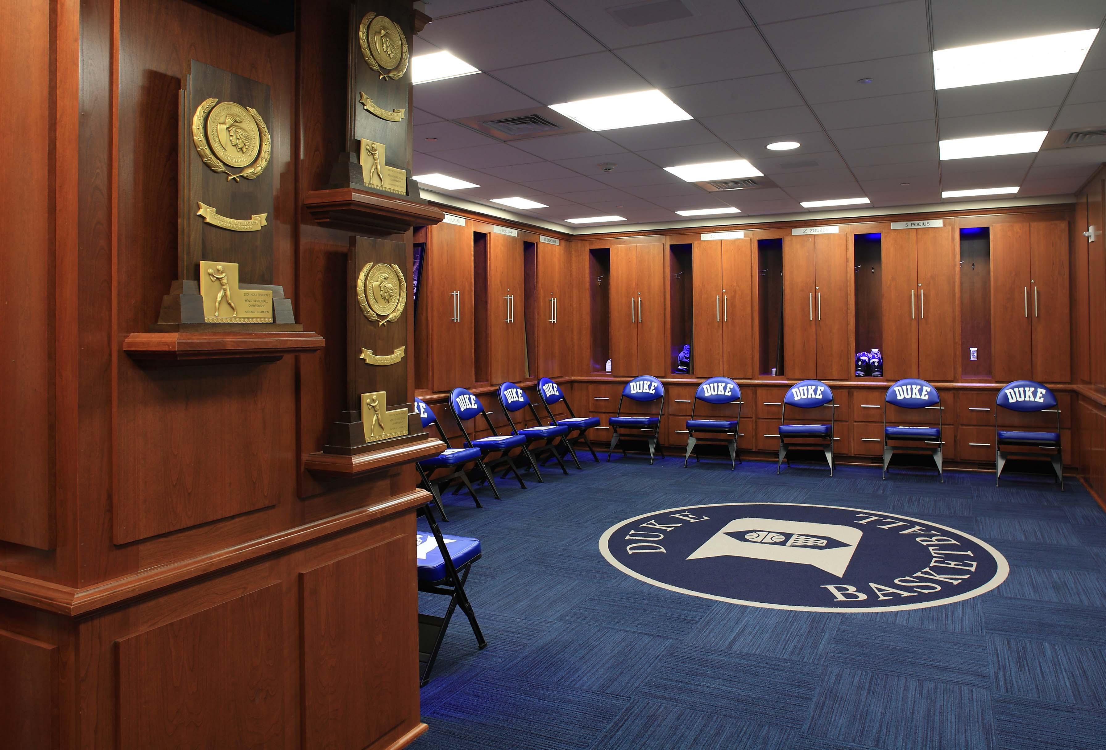 Duke University Men S And Women S Basketball Locker Rooms