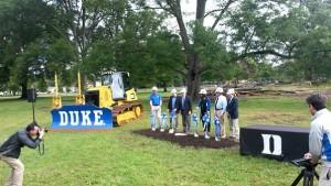 Duke Softball Ground Breaking